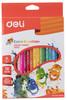 Карандаши цветные Deli Color Emotion EC00210 трехгран. липа 18цв. коробка/европод.