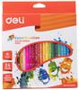 Карандаши цветные Deli Color Emotion EC00220 трехгран. липа 24цв. коробка/европод. вид 1
