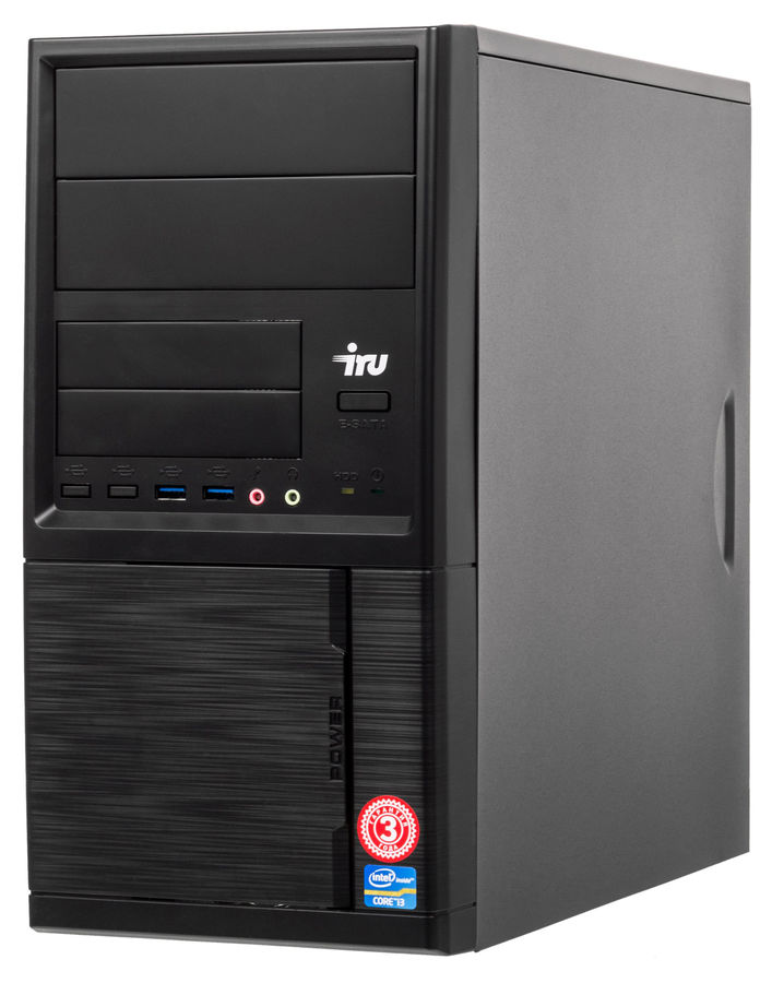 Компьютер  IRU Office 311,  Intel  Celeron  G3900,  DDR4 4Гб, 500Гб,  Intel HD Graphics 510,  Free DOS,  черный [458177]