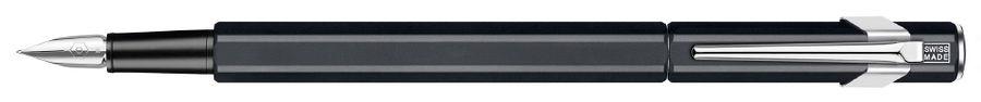 Ручка перьевая Carandache Office 849 Classic (841.009) Matte Black F сталь нержавеющая подар.кор.