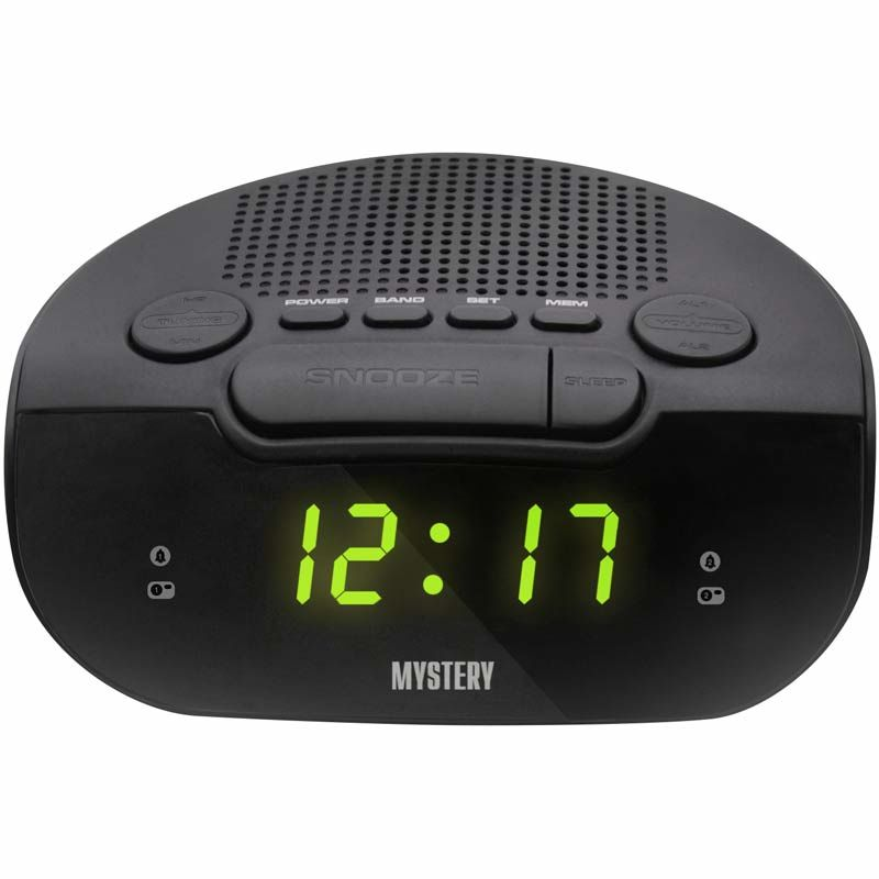 Радиобудильник MYSTERY MCR-21, зеленая подсветка,  черный