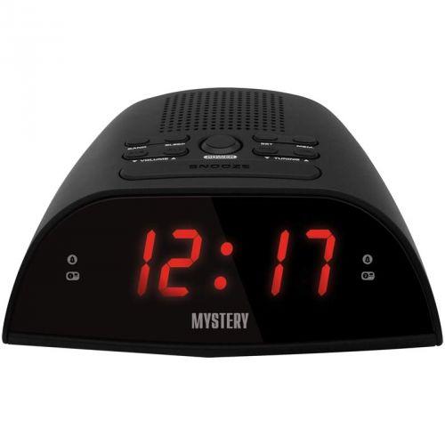 Радиобудильник MYSTERY MCR-48, красная подсветка,  черный