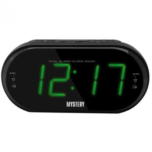 Радиобудильник MYSTERY MCR-69, зеленая подсветка,  черный