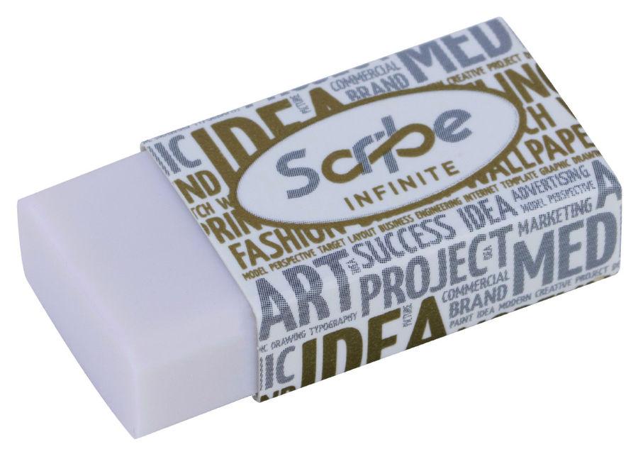 Ластик Deli EH00510 Scribe Infinite 20x10x40мм черный индивидуальная картонная упаковка