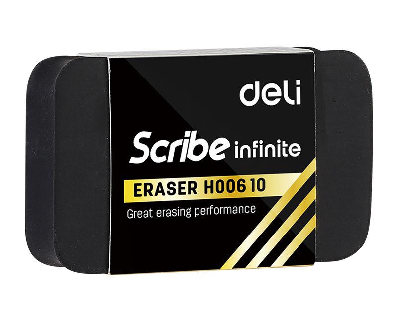 Ластик Deli EH00610 Scribe Infinite 22x12x60мм белый индивидуальная картонная упаковка