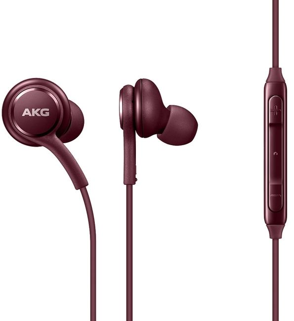 Гарнитура SAMSUNG Earphones Tuned by AKG, вкладыши, бургунди, проводныеНаушники<br>тип соединения: проводные; акустический тип: закрытые; тип амбушюр: вкладыши<br><br>Цвет: бургунди