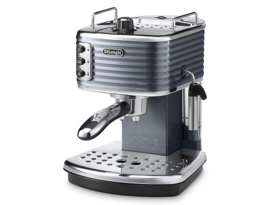 Кофеварка DELONGHI ECZ351.GY,  эспрессо,  серый  / серебристый [0132103101]