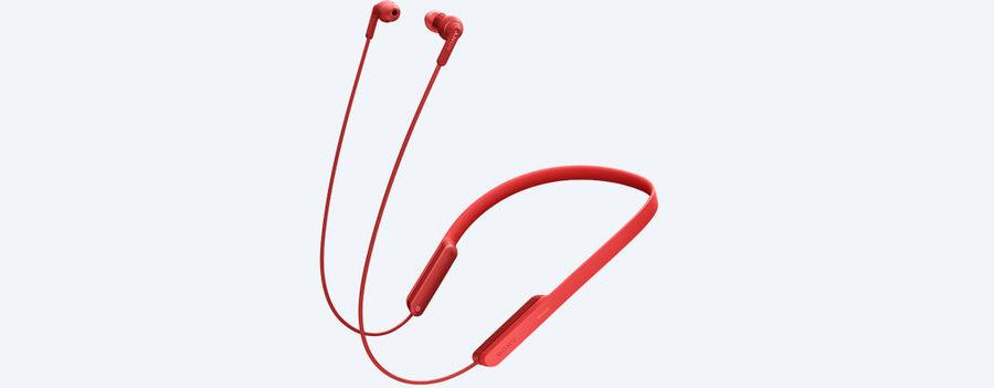 Гарнитура SONY MDRXB70BTR.E, вкладыши,  красный, беспроводные bluetooth