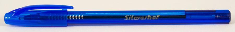 Ручка шариковая Silwerhof DROP (026149-02) 1.0мм треугол. черн.на масл.основе синие чернила коробка