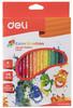 Карандаши цветные Deli Color Emotion EC00230 трехгран. липа 36цв. коробка/европод.