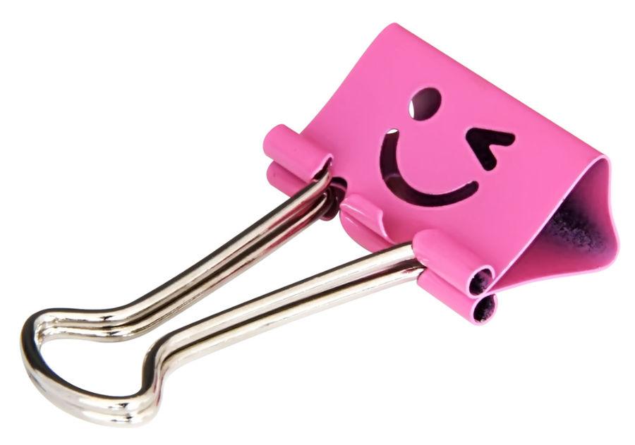 Зажимы Deli 8486 smile 25мм ассорти (упак.:48шт) пластиковая туба