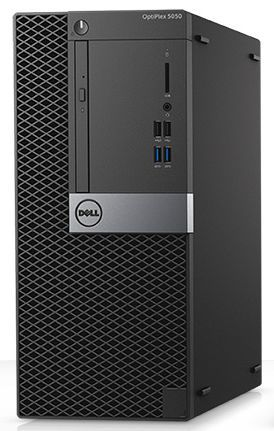 Компьютер DELL Optiplex 5050, Intel Core i7 7700, DDR4 8Гб, 1000Гб, Intel HD Graphics 630, DVD-RW, Linux, черный и серебристый [5050-8282] настольный компьютер dell optiplex 5050 mt black silver 5050 8299 intel core i7 7700 3 6 ghz 8192mb 1000gb dvd rw intel hd graphics ethernet windows 10 pro 64 bit