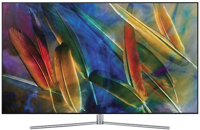 "LED телевизор SAMSUNG QE65Q7FAMUXRU  ""R"", 65"", Ultra HD 4K (2160p),  серебристый"