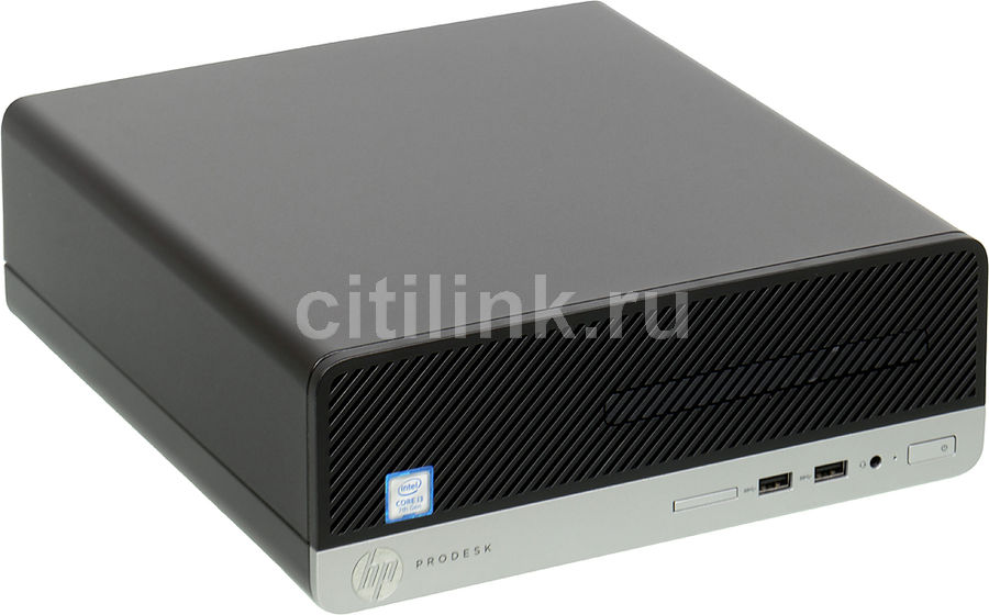 Компьютер HP ProDesk 400 G4, Intel Core i7 7700, DDR4 4Гб, 256Гб(SSD),  HD Graphics 630, DVD-RW, Windows 10 Professional, черный [1jj80ea]