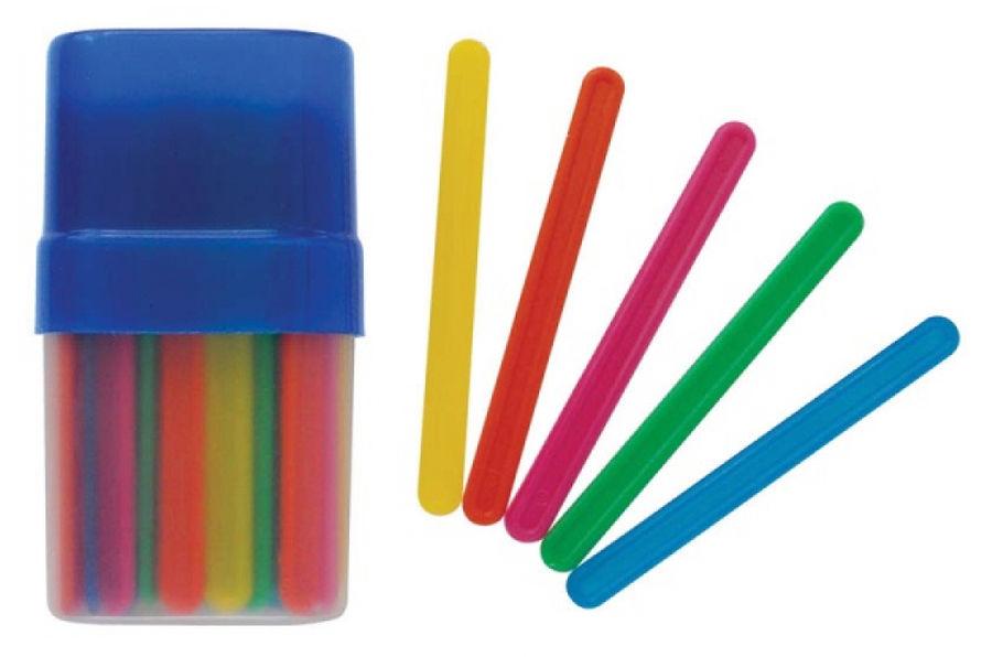 Счетные палочки Silwerhof 670612-50 Пластилиновая кол-ция 50шт пластик цв.ассорт. плас.пенал