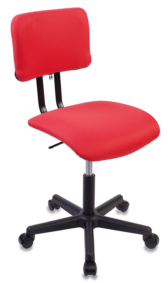 Кресло БЮРОКРАТ CH-1200, на колесиках, ткань, красный [ch-1200nx/red]