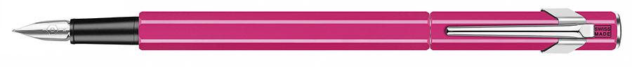 Ручка перьевая Carandache Office 849 Fluo (840.090) пурпурный флуоресцентный M сталь нержавеющая под