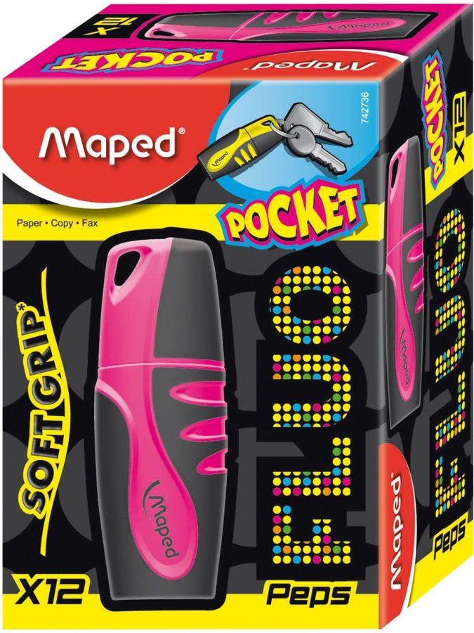 Текстовыделитель Maped FLUO PEP`S POCKET 742736 розовый