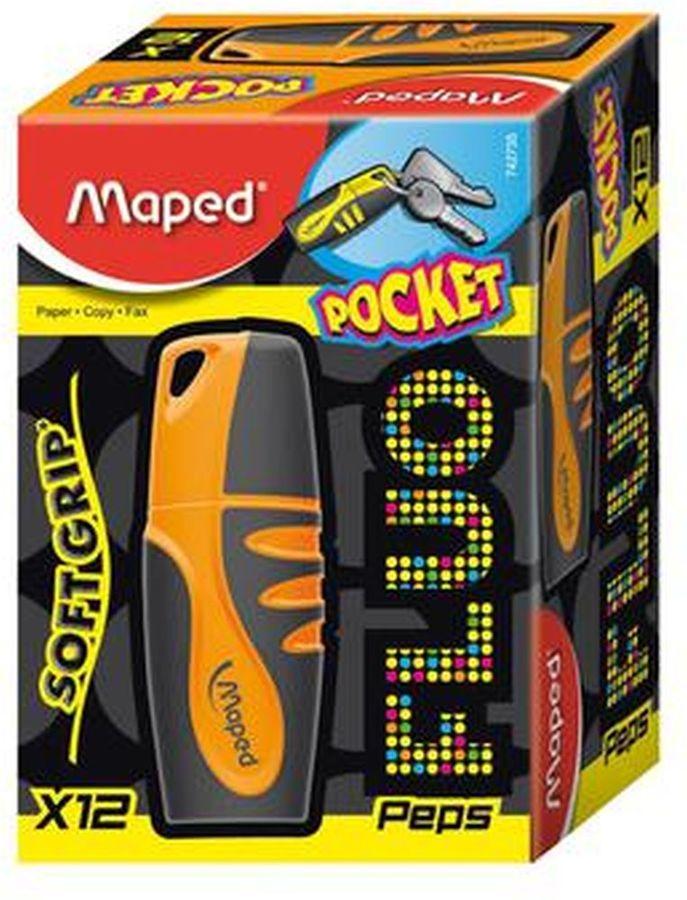 Текстовыделитель Maped FLUO PEP`S POCKET 742735 оранжевый