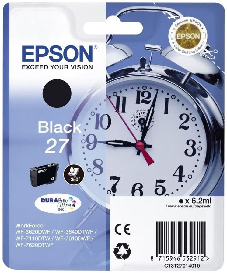 Картридж EPSON T2701 черный [c13t27014022]
