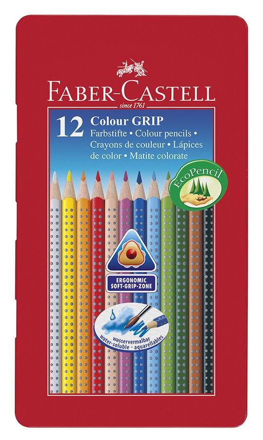 Карандаши цветные Faber-Castell GRIP 2001 112413 12цв. мет.кор.