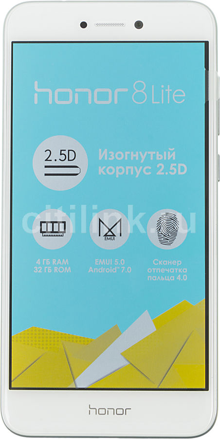 Смартфон HONOR 8 Lite 32Gb,  белый