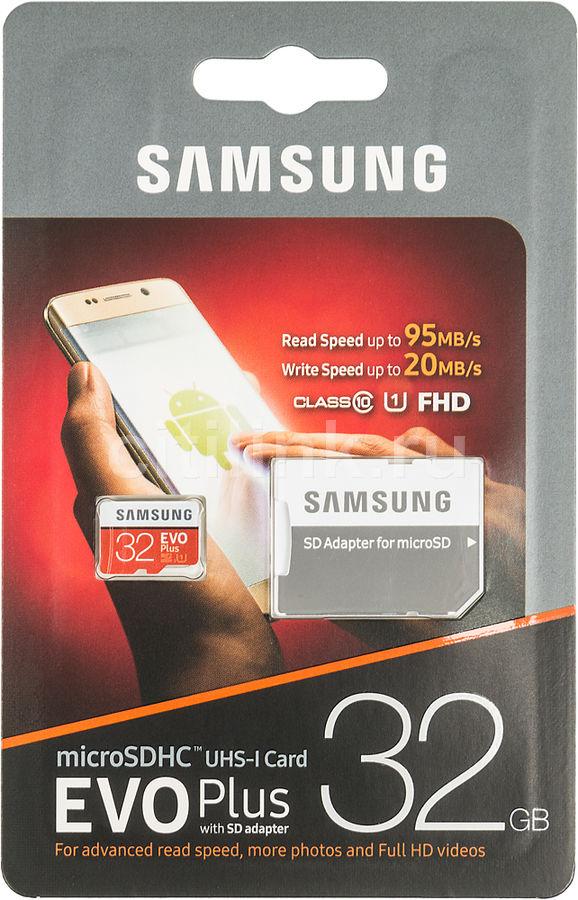Купить Карта памяти microSDHC UHS-I <b>SAMSUNG EVO PLUS</b> 32 ...