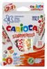 Фломастеры Carioca STAMPERELLO 42279 6цв. двусторонние со штампами коробка с европодвесом вид 1