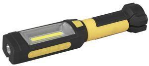 """Ручной фонарь ЭРА RB-801 """"Практик"""", черный  / желтый,  5Вт [б0027823]"""