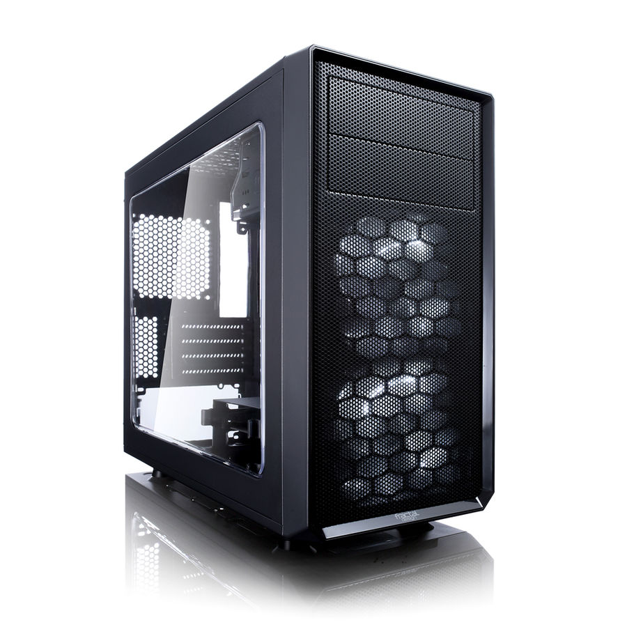 Корпус mATX FRACTAL DESIGN FOCUS G MINI Window, Mini-Tower, без БП, черный корпус matx fractal design define mini c tg mini tower без бп черный