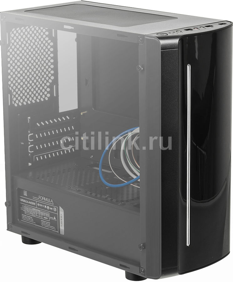Корпус mATX FORMULA FA-702B, Mini-Tower, 450Вт, черный formula fa 011b black