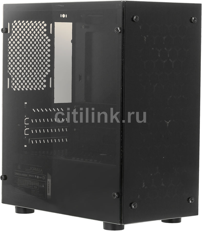 Корпус mATX FORMULA FA-703B, Mini-Tower, 450Вт, черный formula fa 011b black