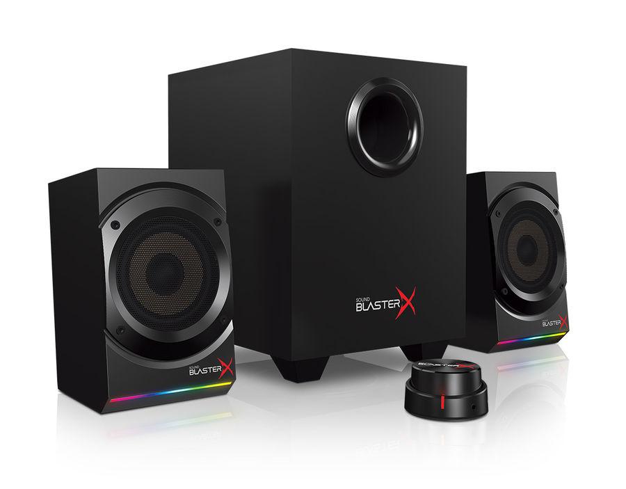Колонки CREATIVE Sound BlasterX Kratos S5,  2.1,  черный [51mf0470aa000]