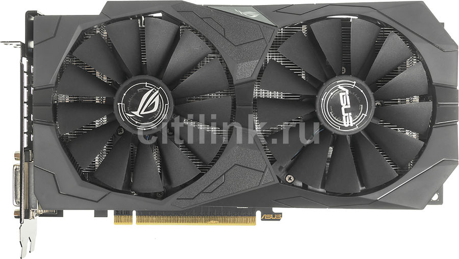 Видеокарта ASUS AMD Radeon RX 570 , ROG-STRIX-RX570-O4G-GAMING, 4Гб, GDDR5, OC, Ret computer vga gpu cooler rog strix rx470 dual rx480 graphics card fan for asus rog strix rx470 o4g gaming video cards cooling