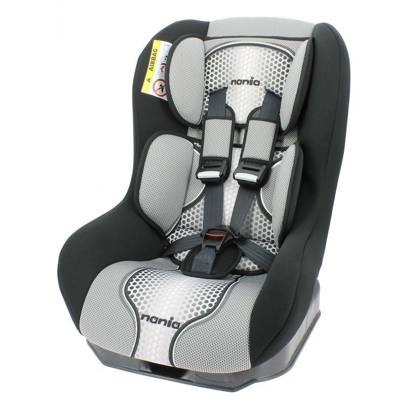 Автокресло детское NANIA Driver FST (pop black), 0+/1, серый/черный [046901]