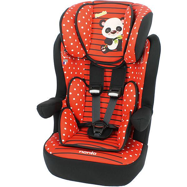 Автокресло детское NANIA IMax SP (panda red), 1/2/3, красный/рисунок [928246]