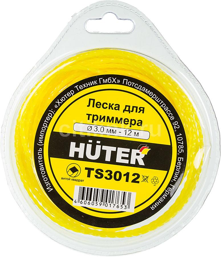 Леска для садовых триммеров HUTER TS3012,  3мм, 12м [71/2/3]
