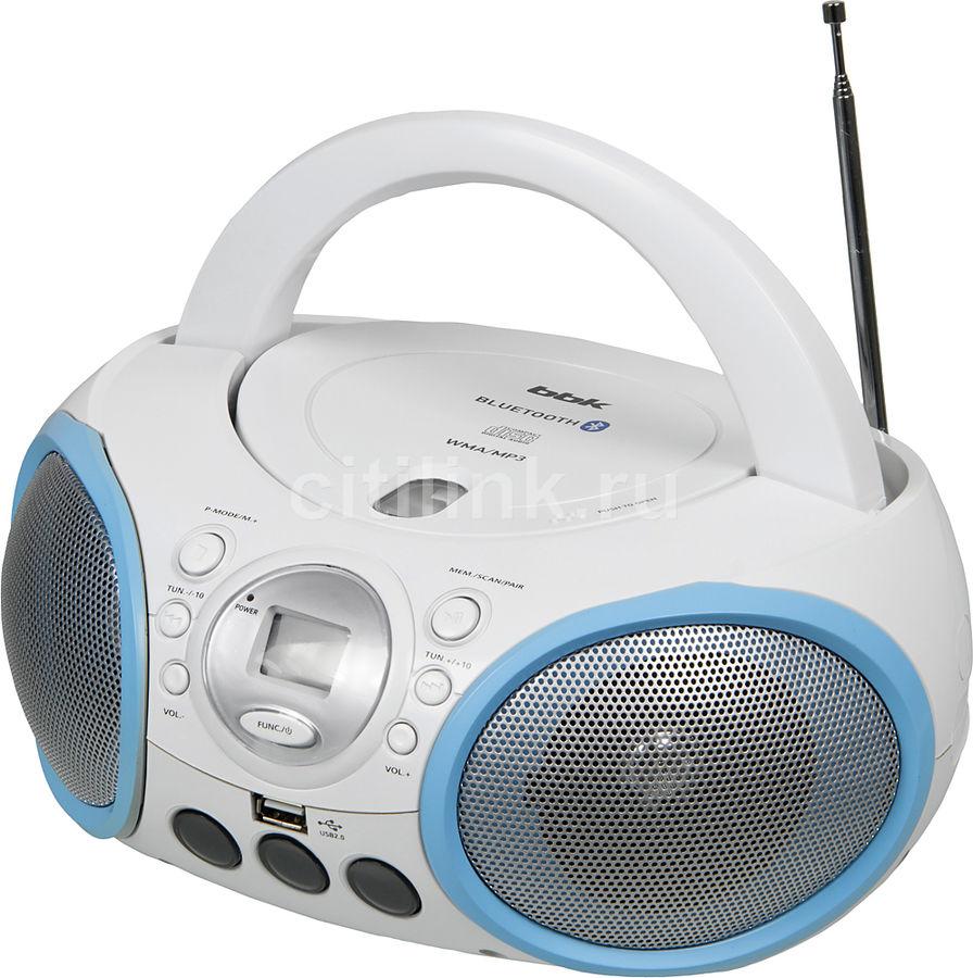 Аудиомагнитола BBK BX150BT,  белый и голубой