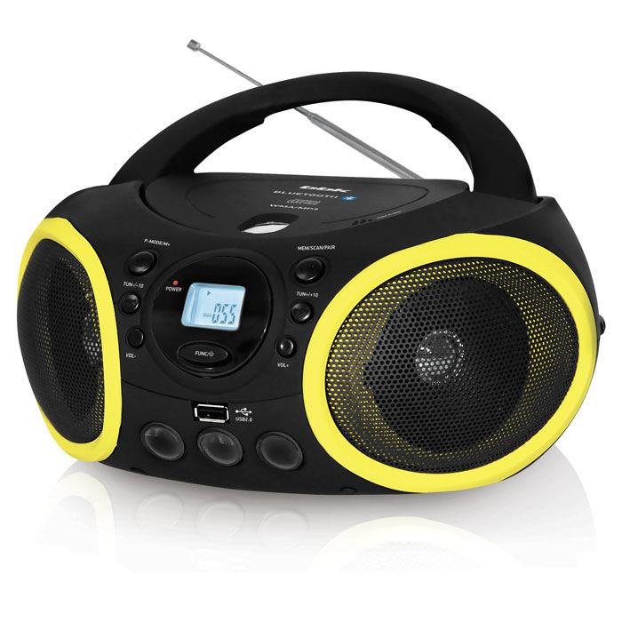 Аудиомагнитола BBK BX150BT,  черный и желтый