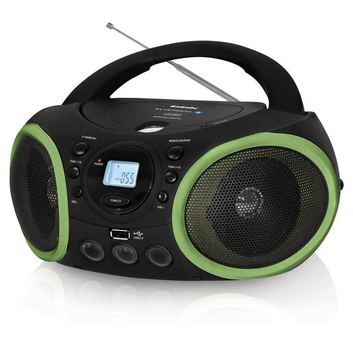 Аудиомагнитола BBK BX150BT,  черный и зеленый