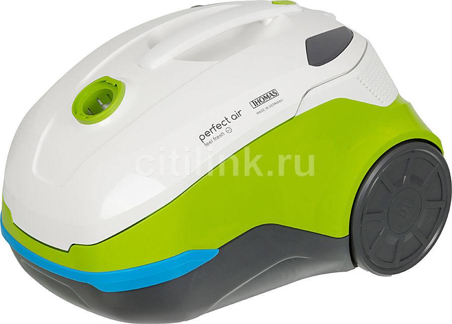 Пылесос THOMAS Perfect Air Feel Fresh x3, 1700Вт, белый/зеленый