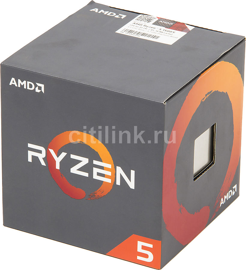 Процессор AMD Ryzen 5 1500X, SocketAM4,  BOX [yd150xbbaebox]