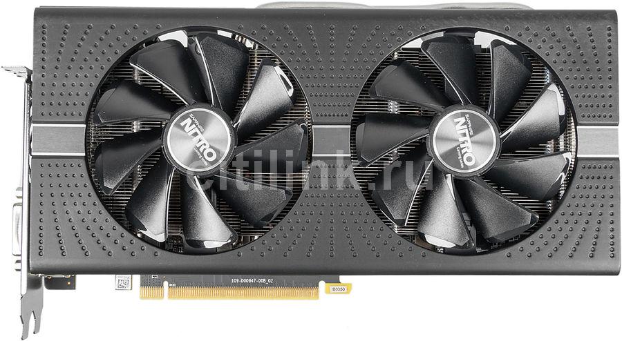 Видеокарта SAPPHIRE Radeon RX 580,  11265-01-20G NITRO+ RX 580 8G OC,  8Гб, GDDR5, OC,  Ret