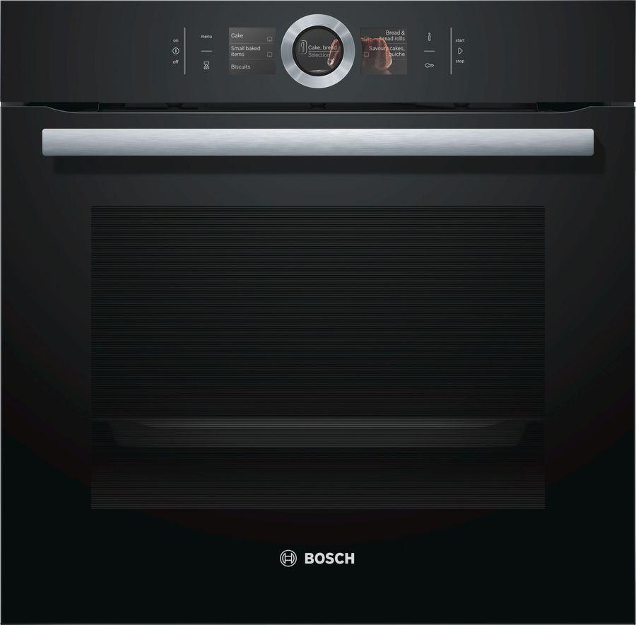 Духовой шкаф BOSCH HBG6764B1,  черный