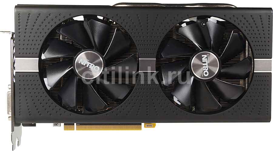 Видеокарта SAPPHIRE AMD  Radeon RX 570 ,  11266-09-20G NITRO+ RX 570 8G OC,  8Гб, GDDR5, OC,  Ret