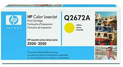 Картридж HP Q2672A желтый