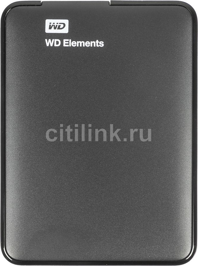 Внешний жесткий диск WD Elements Portable WDBUZG0010BBK-WESN, 1Тб, черный