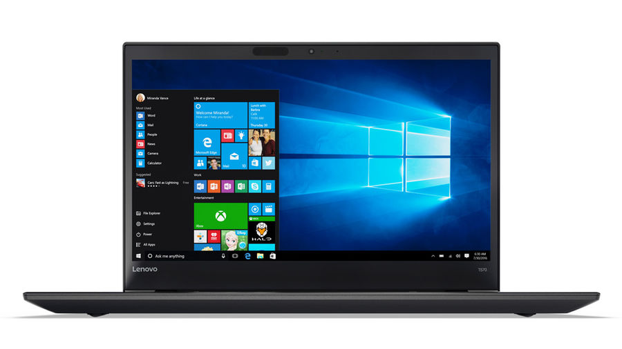 Ноутбук LENOVO ThinkPad T570, 15.6, Intel Core i5 7200U 2.5ГГц, 8Гб, 1000Гб, 128Гб SSD, nVidia GeForce 940MX - 2048 Мб, Windows 10 Professional, черный [20h90050rt]Ноутбуки<br>экран: 15.6;  разрешение экрана: 1920х1080; процессор: Intel Core i5 7200U; частота: 2.5 ГГц (3.1 ГГц, в режиме Turbo); память: 8192 Мб, DDR4; HDD: 1000 Гб, 5400 об/мин; SSD: 128 Гб; nVidia GeForce 940MX - 2048 Мб; WiFi;  Bluetooth; HDMI; WEB-камера; Windows 10 Professional<br><br>Линейка: ThinkPad