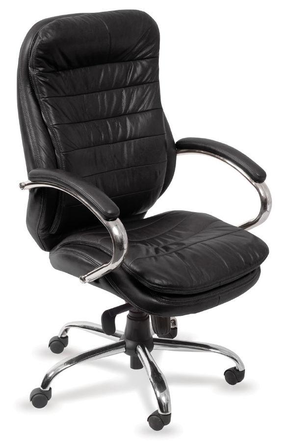 Кресло руководителя БЮРОКРАТ T-9950AXSN, на колесиках, кожа/кожзам, черный [t-9950axsn/black]