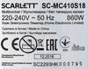 Мультиварка SCARLETT SC-MC410S18,  860Вт,   серебристый/белый [sc - mc410s18] вид 10